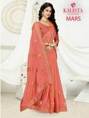 Kalista Mars Party Wear Vichitra Silk Saree Collection