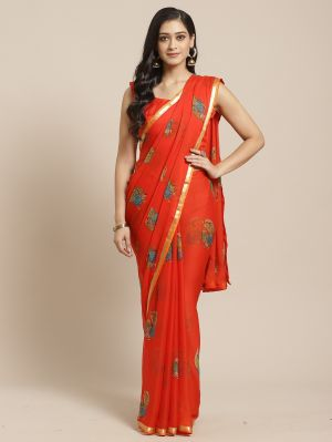 Queen 2 Casual Wear Chiffon Printed Saree