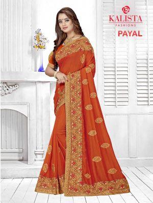 Kalista Payal Festive Wear Silk Embroidered Saree Collection