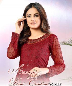 New Arrival Aanaya 112 Designer Net Salwar Suits Collection