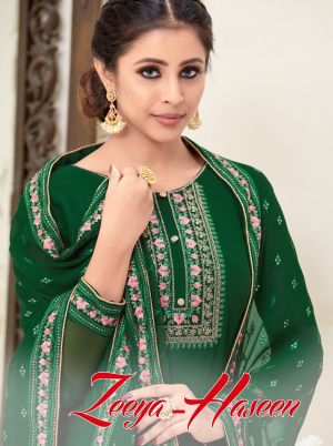 Zeeya Haseen 1301 Series Heavy Embroidered Dress Material