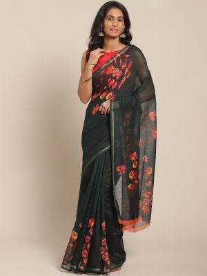 Kesari 1 Festive Cotton Blend Printed Saree Collection