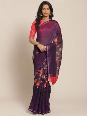 Kesari 2 Festive Cotton Blend Printed Saree Collection
