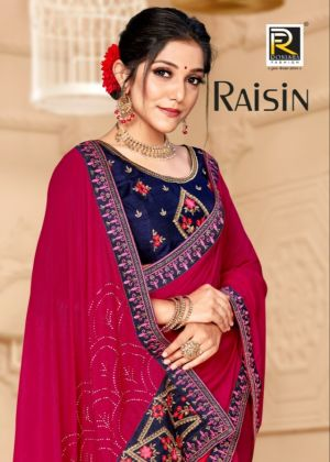 Ronisha Raisin Designer Party Wear Super Hit Saree Collection