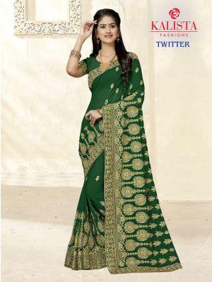 Kalista Twitter Party Wear Vichitra Silk Saree Collection