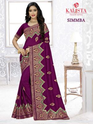 Kalista Simmba Party Wear Vichitra Silk Saree Collection