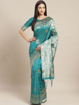 Kanthi 2 Festive Silk Blend Woven Saree Collection