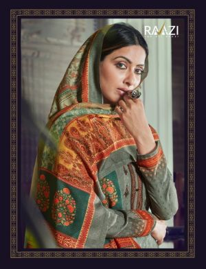 Raazi Rangvesh 2 Designer Embroiderd Pashmina Dress Material