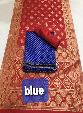 Rnx Katli 3 Banarasi Silk Designer Dress Material