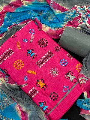 Warli Designer Suits 1 Cotton Dress Material