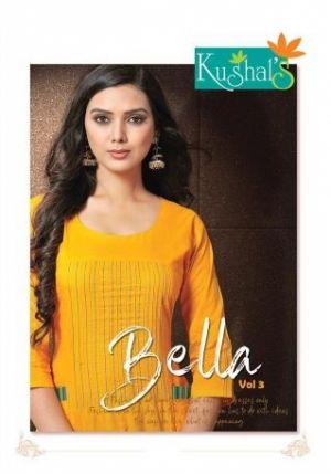 Kushal Bella 3 Rayon Embroiderd Designer Kurti With Bottom Collection