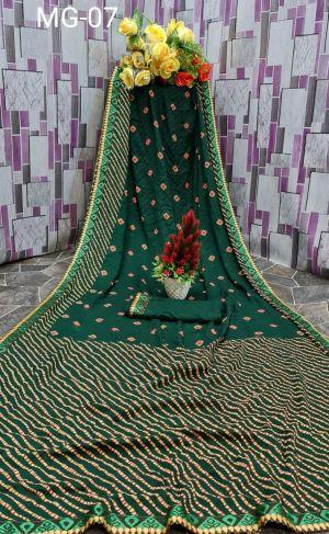 Mahek 11 Casual Wear Bandhani Saree Collection