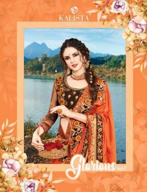 Glorious 7 Party Wear Silk Saree Collection