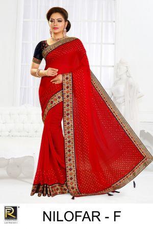 Ronisha Nilofar Diamond Silk Festive Wear Saree Collection