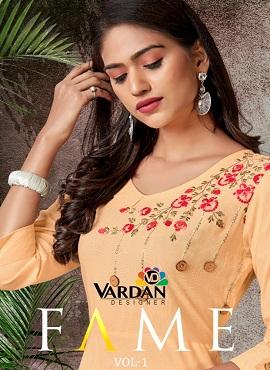 Vardan Fame 1 Ethnic Wear Long Kurtis Collection