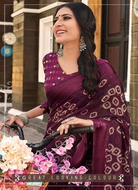 Vinamra Celebrity Green 6 Ethnic Wear Cotton Saree Collection