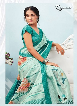 TM Glorious Ethnic Wear printed Saree Collection