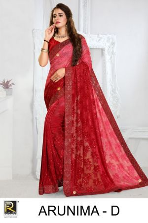 Ronisha Arunima Brasso Festive Wear Saree Collection
