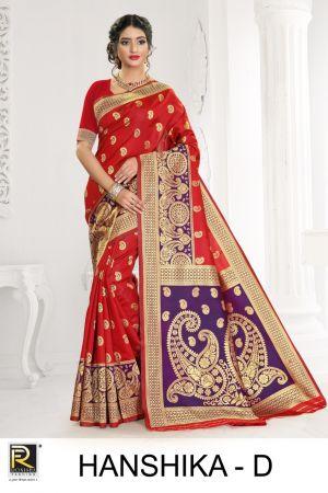 Ronisha Hanshika Silk Festive Wear Saree Collection