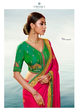Vritika Palash 11 Embroidery Worked Saree Collection