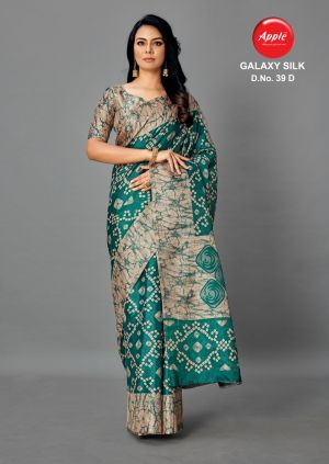 Apple Galaxy 39 Casual Wears Silk Saree Collection