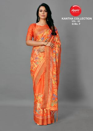 Apple Kantha Collection 2 Casual Wear Silk Saree Collection