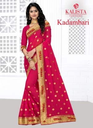 Kalishta Kadamwari Ethnic Wear Georgette Saree Collection