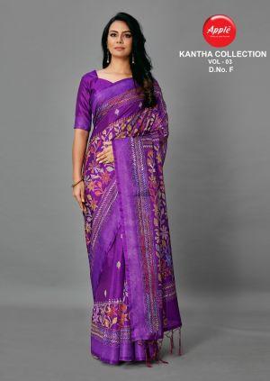 Apple Kantha 3 Casual Wear Silk Saree Collection