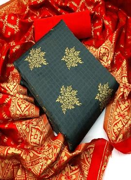 Banarasi Silk 20 Jacquard Designer Dress Material