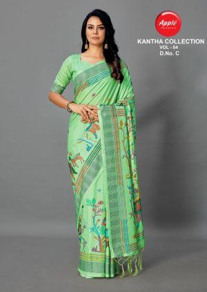 Apple Kantha 4 Casual Wear Art Silk Saree Collection