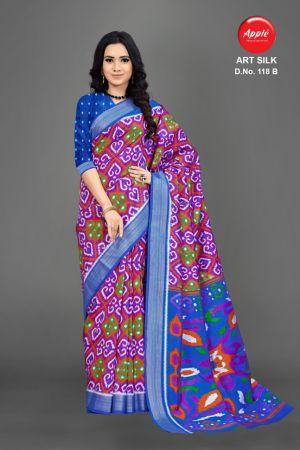 Apple Art Silk 118 Casual Wear Silk Saree Collection