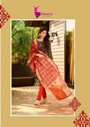 Silk Bandhani 1 Festive Wear Designer Dress Material Collection