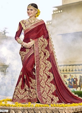 Kalishta Veronica Festive Wear Embroidery Worked Saree Collection