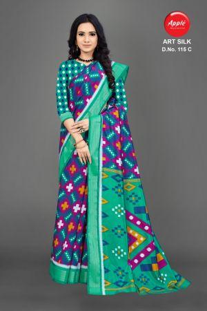 Apple Art Silk 115 Casual Wear Silk Saree Collection