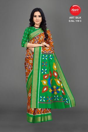Apple Art Silk 119 Casual Wear Silk Saree Collection