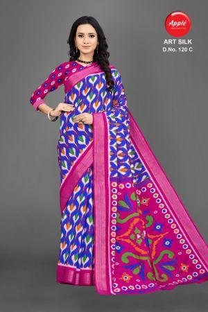 Apple Art Silk 120 Casual Wear Silk Saree Collection