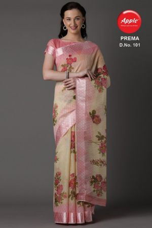 Apple Prema Casual Wear Cotton Saree Collection