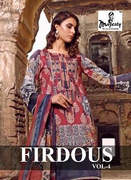 Majesty Firdous 4 Pakistani Salwar Suit Collection