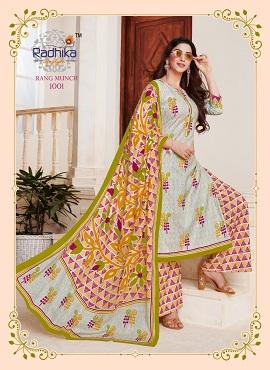 Radhika Rang Munch 1 Cotton Dress Material Collection