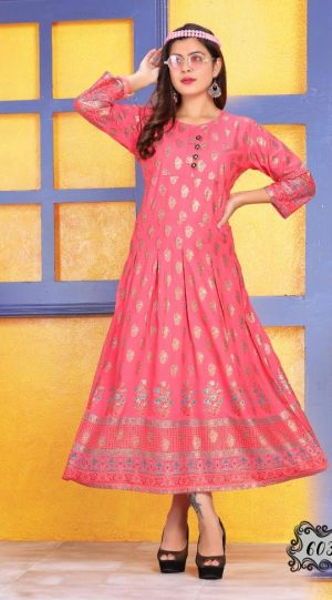 Goldy 2 Casual Wear Anarkali Kurtis Collection