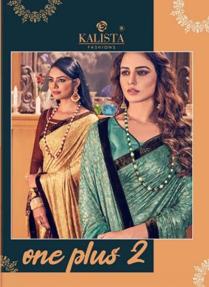 Kalista One Plus 2 Festive Wear Embroidery Worked Sarees