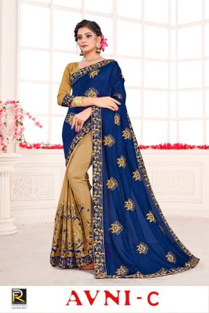Ronisha Avni Festive Wear Embroidery Worked Saree Collection
