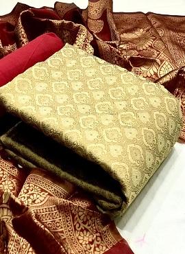 Banarasi Silk 27 Casual Wear Dress Material Collection