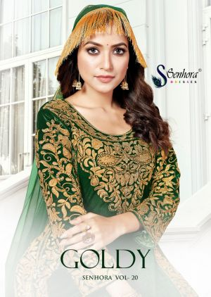 Senhora Goldy 20 Colours Embroidery Salwar Suits Collection
