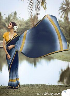 Sanskar Instagram 3 Ethnic Wear Georgette Sarees Collection