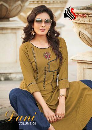 Sawan Dani 9 Ethnic Wear Kurti With Bottom Collection