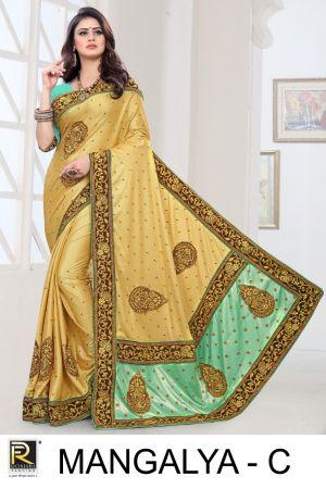 Ronisha Mangalya Embroidery Worked Saree Collection