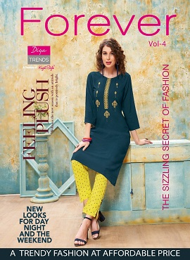 Forever 4 Ethnic Wear Kurti With Bottom Collection