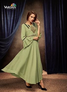 Vardan Passion 2 Ethnic Wear Long Kurtis Collection