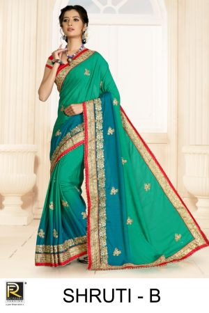Ronisha Shruti Embroidery Worked Saree Collection